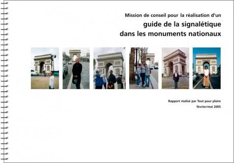 La signalétique dans les monuments nationaux