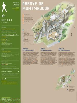 Tout pour plaire - signalétique d'accueil - centre des monuments nationaux - abbaye de Montmajour