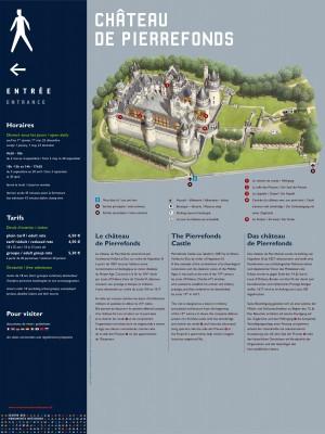 Tout pour plaire - signalétique d'accueil - Centre des monuments nationaux - château de Pierrefonds