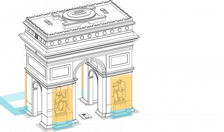 Tout pour plaire - signalétique -travaux restauration - Arc de triomphe - Centre des monuments nationaux - plan