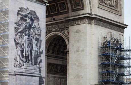 Tout pour plaire - signalétique -travaux restauration - Arc de triomphe - Centre des monuments nationaux