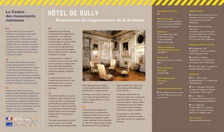 tout pour plaire signaletique travaux - Centre des monuments nationaux - Hôtel de Sully