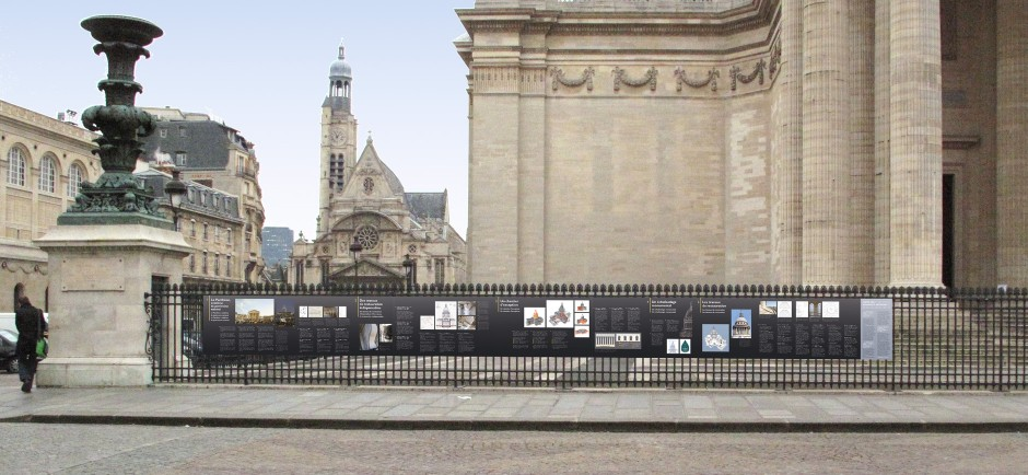 Tout pour plaire - signalétique - travaux restauration - Centre des monuments nationaux - Panthéon